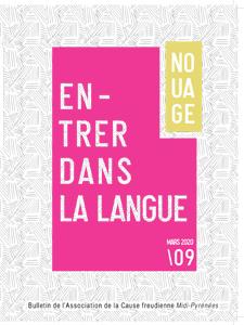 couverture nouage 09 entrer dans la langue